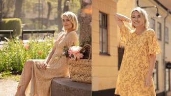 Josefin Dahlberg frontar nya kampanjen Sunshine Boheme som består av 100 % naturmaterial.