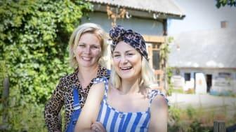 Matentreprenörerna Marina Evertsson och Lisa Lemke är  tillsammans med trädgårdsmästaren John Taylor tre välkända ansikten i årets Skördetid i Halland.