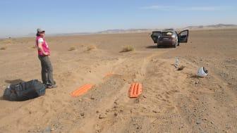 Forhjulstræk giver lidt ekstra udfordringer når man kører i sand