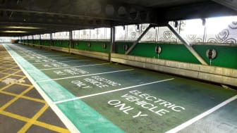 The new EV charging hub at Hatfield station