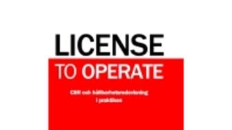 Ny bok: License to operate - CSR och hållbarhetsredovisning