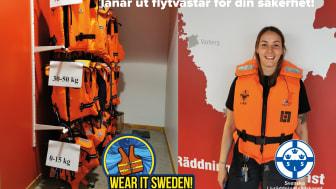 Emma Jansson depåansvarig Svenska Livräddningssällskapets regionförbund Halland