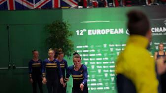 Guld för damerna i spännande EM-final i truppgymnastik