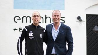 Christian Klingebrant (FFA Kidz) och Robin Berkhuizen (Emrahus).