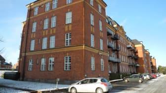 En av byggnaderna på Kasernhöjden