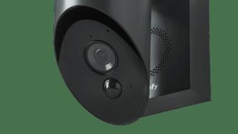 Somfy Outdoor  Camera Antracitgrå sedd snett underifrån