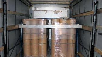 Rolls of paper in lorry (SE 19.17)