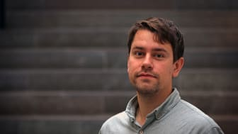 Johan Seijsing jobbar på avdelningen för proteinteknologi på KTH. Foto: Peter Larsson