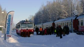 Snötåget trafikerar Östersund-Mora-Östersund alla dagar förutom julafton