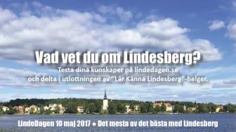 Tipstävling inför LindeDagen 10 maj: Vad vet du om Lindesberg?