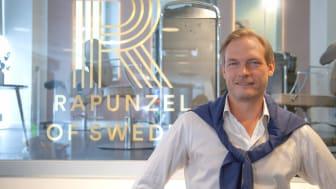 Tobias Mattsson tillträder tjänsten som ny VD för Rapunzel of Sweden från och med den 1 oktober 2018.