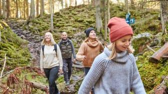 Vandring i den spännande naturen vid Skurugata, Småland. Foto: Day Fotografi