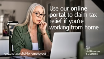 Working from home? Customers may be eligible to claim tax relief in 2021/22