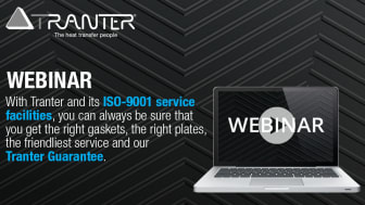 Technical Webinar:  Join Rich Doerr, Tranter's SouthEast USA Manager, for a webinar on Plate Heat Exchangers.