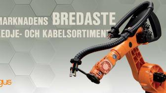igus har marknadens bredaste kedje- och kabelsortiment för robotapplikationer.