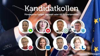 Hittills har över hundra kandidater till Europaparlamentet besvarat frågor till Företagarnas kandidatkoll.