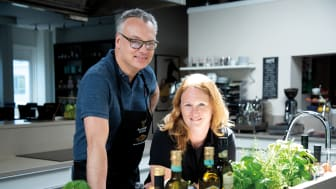 Accademia Di Lucas Måns Falk (kock) och Anna Mellberg (dietist).