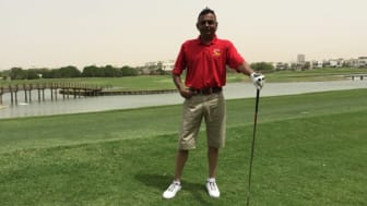 Dhanji Varsani on a golfing holiday