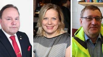 Robert Ylitalo, Elisabeth Landby och Börje Johansson