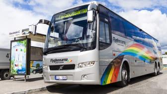 """Flygbussarna är nominerade till bästa serviceföretag i kategorin """"Transporter på land""""."""