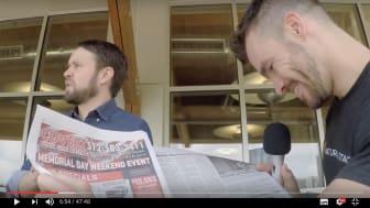 Mattias memorerar hela dagstidningen Austin American Statesman!