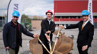 Massoud Zolfaghari (Projektchef på Titania AB), Gabriel Melki (1:e vice ordförande Kommunstyrelsen Botkyrka Kommun), Einar Janson (VD Titania AB)