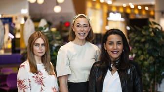 Bromma Blocks ambassadörer Aida Tihic, Helena Lyth och Markiz Tainton