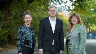 Malin Fijen Pacsay, Tomas Eriksson och Susanne Nordling. Fotograf: Fredrik Hjerling