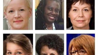 Åsa Lindman, Georgette Barnes, Helena Ranängen, Maria Magdalena Holmgren, May Hermanus, Sarah Downes