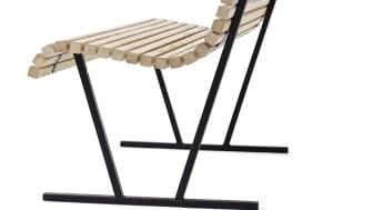 Cane backed bench, design Broberg & Ridderstråle