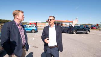 Ole Bang Pedersen, VD på Öresundsporten AB, på Skåneporten i Örkelljunga.