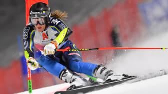 Sara Hector är återigen i farten kommande helg när det är världscuptävlingar i Courchevel. Foto: Bildbyrån