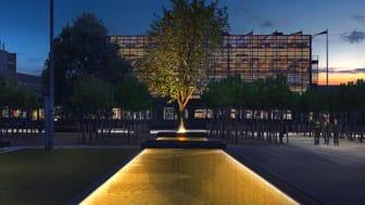 Visualisering af lyset på rådhuspladsen i Rødovre