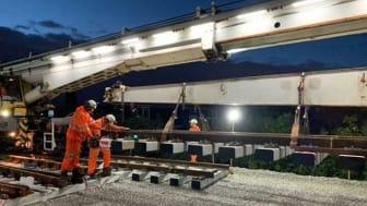 Track renewal at  Balham