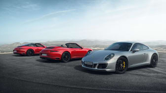 911 Targa 4 GTS, 911 Carrera 4 GTS Cabriolet and 911 Carrera 4 GTS