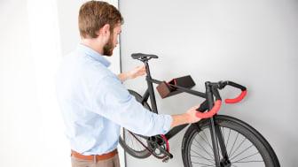 Mit Style an die Wand - das D-Rack von Parax ist  die Lösung für designbewusste Radfahrer