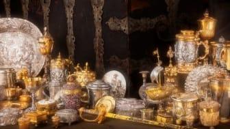 I den nya Silverkammaren ställs Skoklosters slotts mest spektakulära föremål av silver, guld och ädelsten ut i en ny barockinspirerad gestaltning.