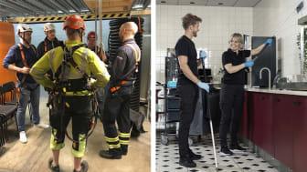 Vi ger certifierade utbildningar inom bland annat fallskydd och lokalvård.