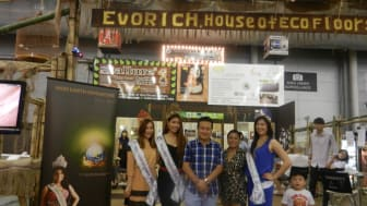 Miss Earth Singapore 2012 @ the Evorich Flooring Showflat