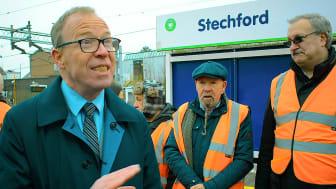 Richard Brooks at Stechford station