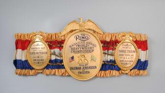 Idrottsmuseet  i Göteborg får 138 000 kronor till bland annat restaurering av den forne tungviktsboxaren Ingemar Johanssons världsmästarbälte från 1959. Foto: Idrottsmuseet i Göteborg (CC BY)