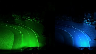 Fordin ennakoivat ajovalot (vasen kuva) helpottavat pimeällä ajoa.