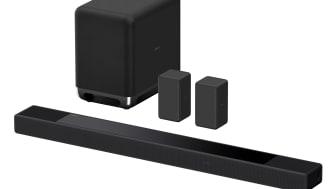Deixe-se envolver pelo realismo absoluto, com a nova barra de som emblemática de 7.1.2 canais HT-A7000 da Sony