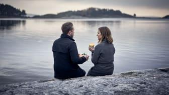 Hogia har sitt huvudkontor i Stenungsund, precis vid havet. Lunchen kan avnjutas vid strandkanten.
