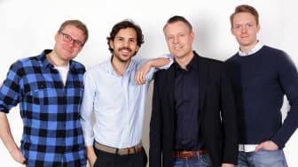 Joakim Rasmuson, Markus Romeis, Magnus Thesen & Daniel Cassel från Anymaker, fotograf Victor Ackerheim