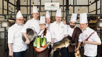 Team Sabis som ska försvara guldet och totalsegern i Culinary Olympics i tyska Erfurt i oktober.