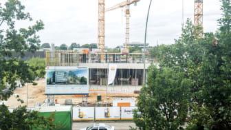 Grundstenen lagd: Jungheinrich bygger nytt huvudkontor