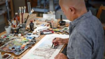 "Yadegar Asisi - Skizze für das neue Panorama ""NEW YORK 9/11"" - Foto: asisi"