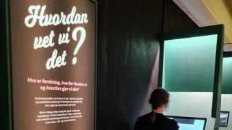 Den nye forskningsveggen på Anno Norsk skogmuseum i Elverum er en arena der publikum kan utforske ny forskning innen skog, vilt og natur.