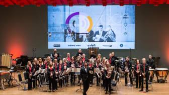 Det blir ikke gjennomført NM brass og janitsjar i 2021. Her er Rong Brass på scenen i februar. Foto: NMF/John Vint